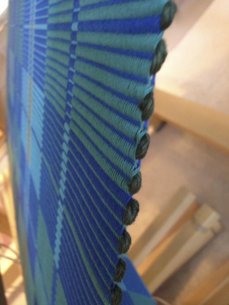 warp rep rug selvedges