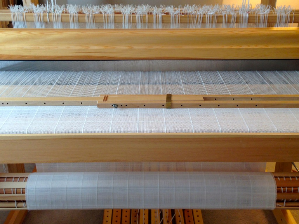 Swedish lace curtains being woven