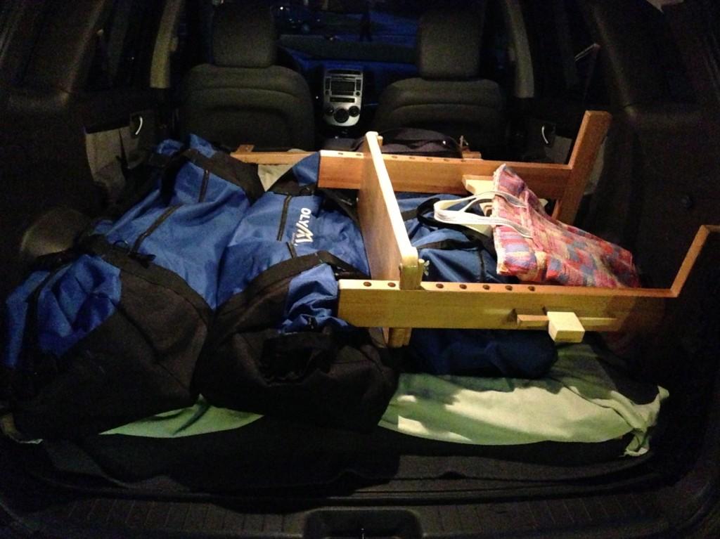 Travel-ready Glimakra Ideal loom.