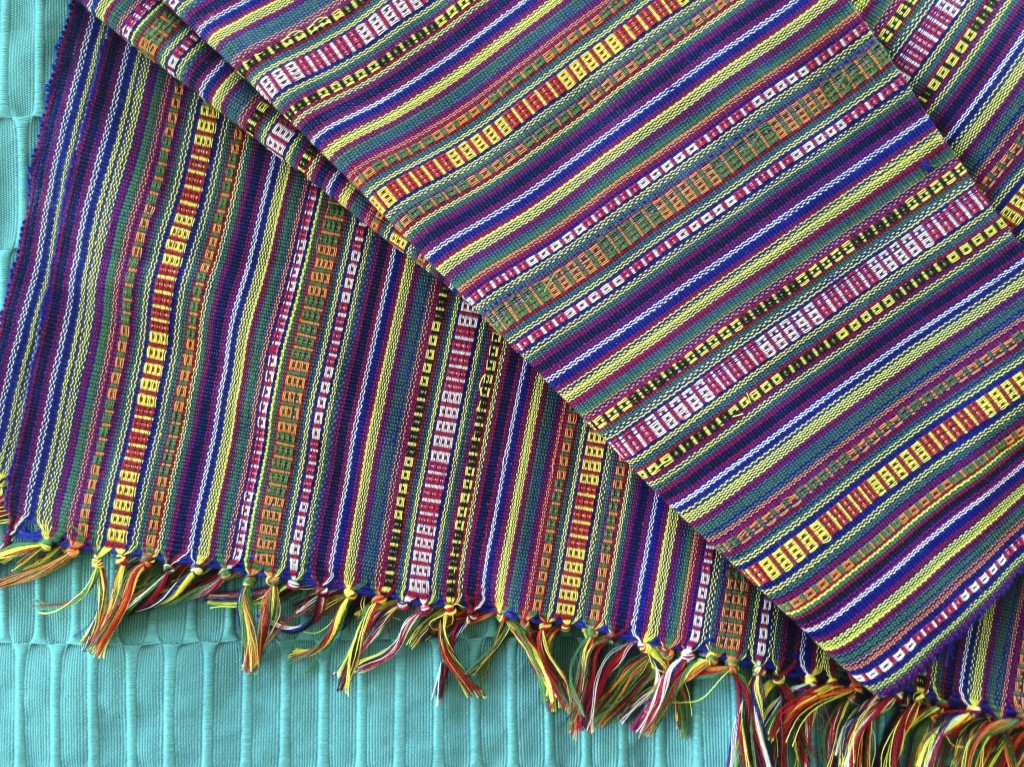 Cheerful colorful striped cloth from Manila.