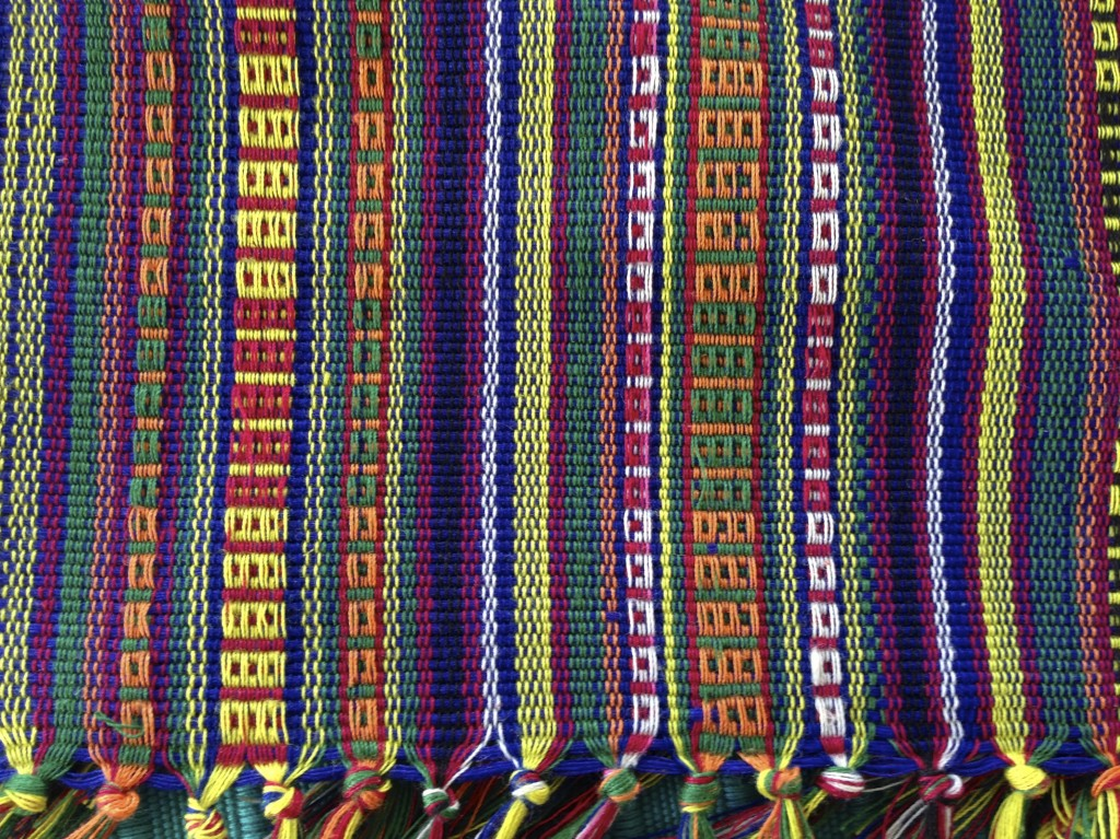Colorful striped cloth from Manila.