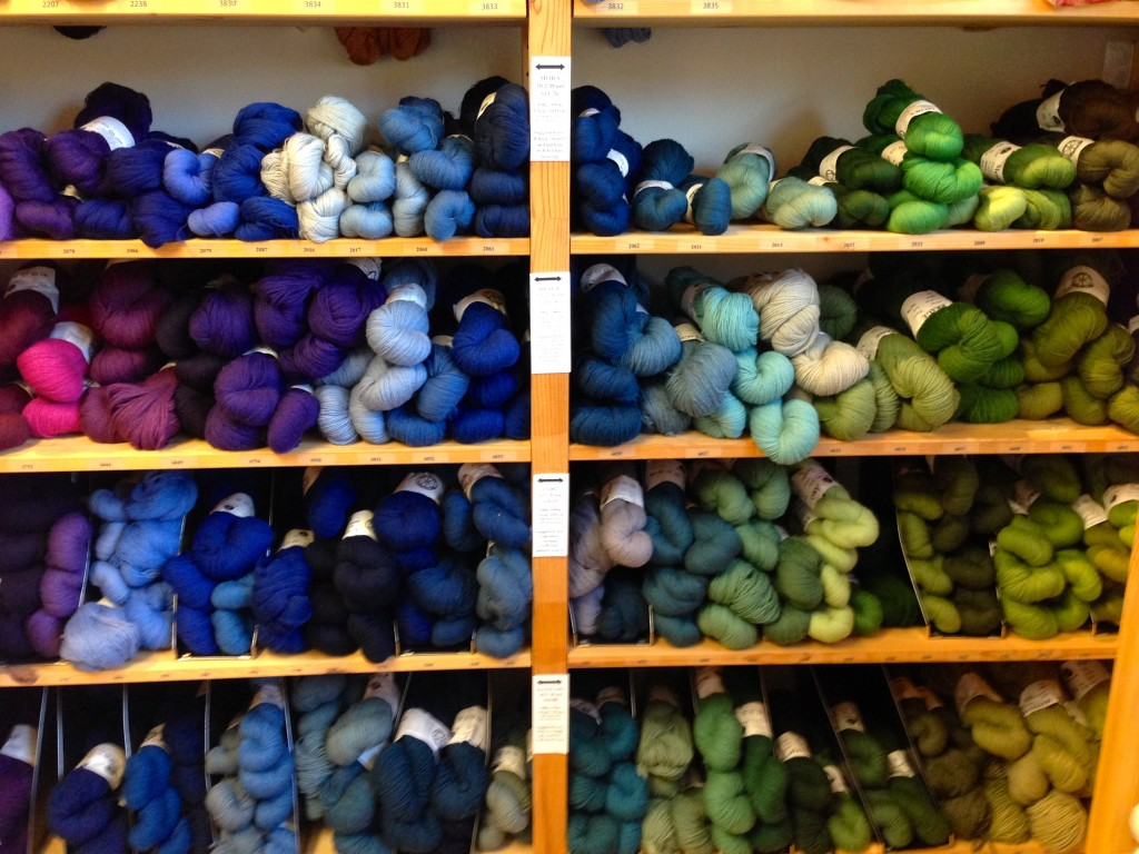 Skeins of Wool at Vävstuga