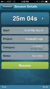 OfficeTime - iPhone app useful for weavers wanting to track time and expenses