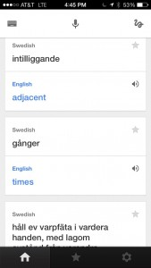 Google Translate - iPhone app useful for understanding Swedish weaving books.