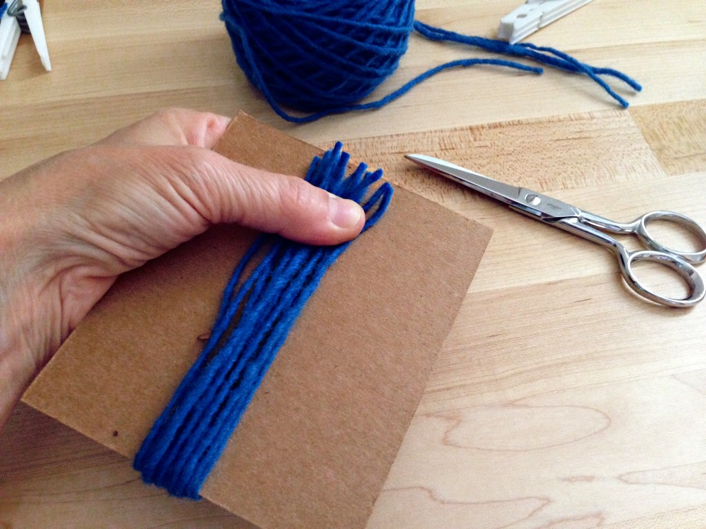 Cut yarn for rya at both ends of template. More how-to pics.
