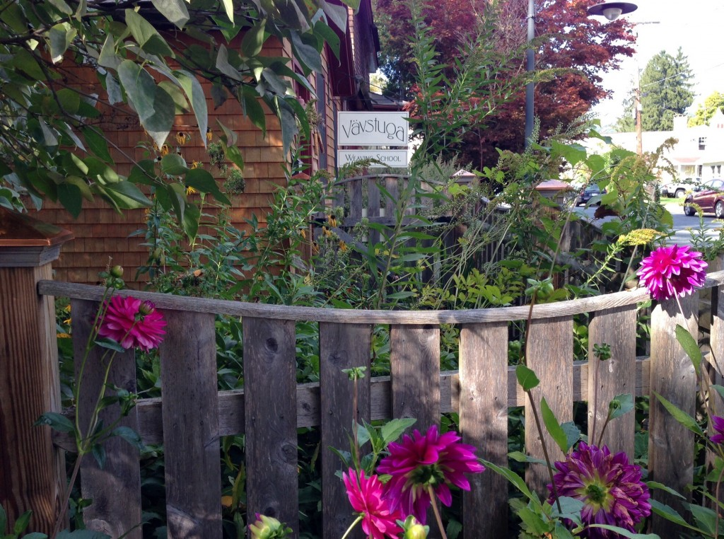 Vavstuga Weaving School, next to the Bridge of Flowers in Shelburne Falls, MA