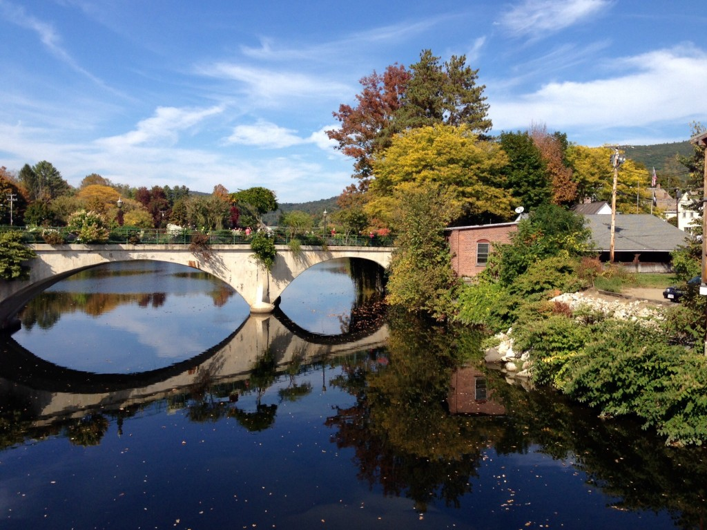 Autumn in Shelburne Falls, MA, Bridge of Flowers