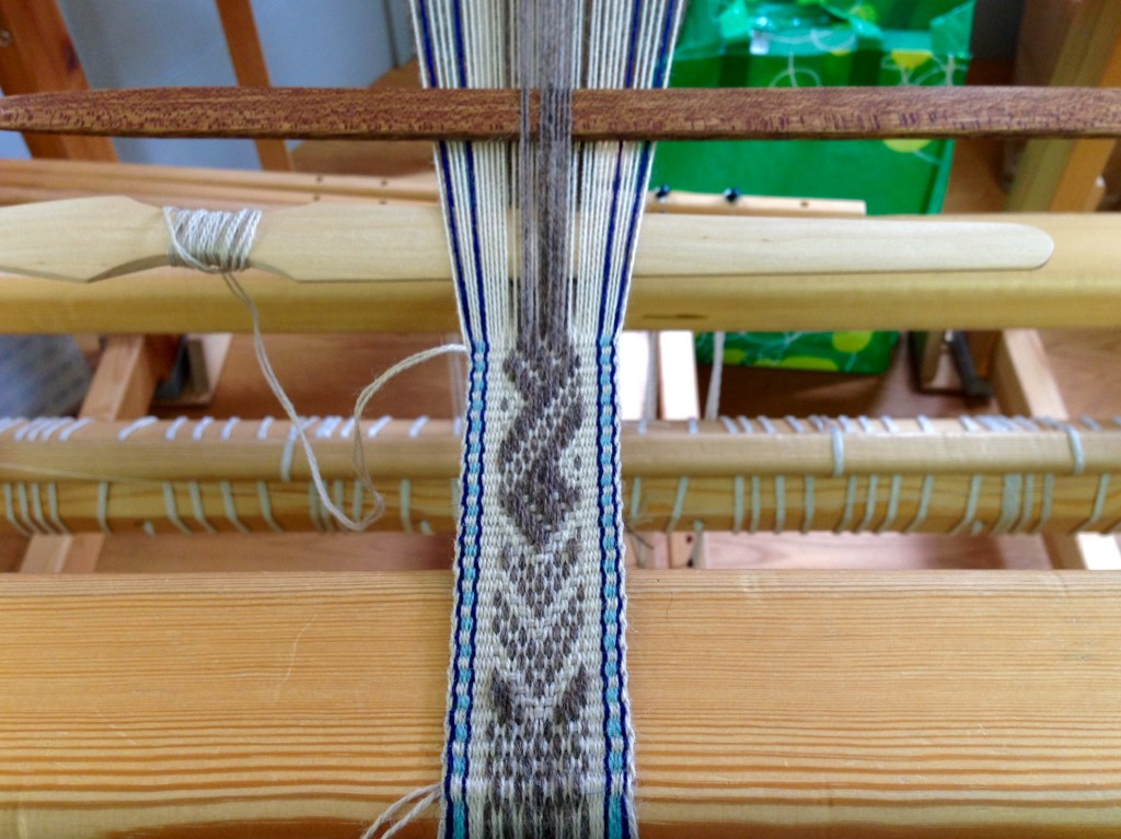 Pick-up Band woven on floor loom at Vavstuga