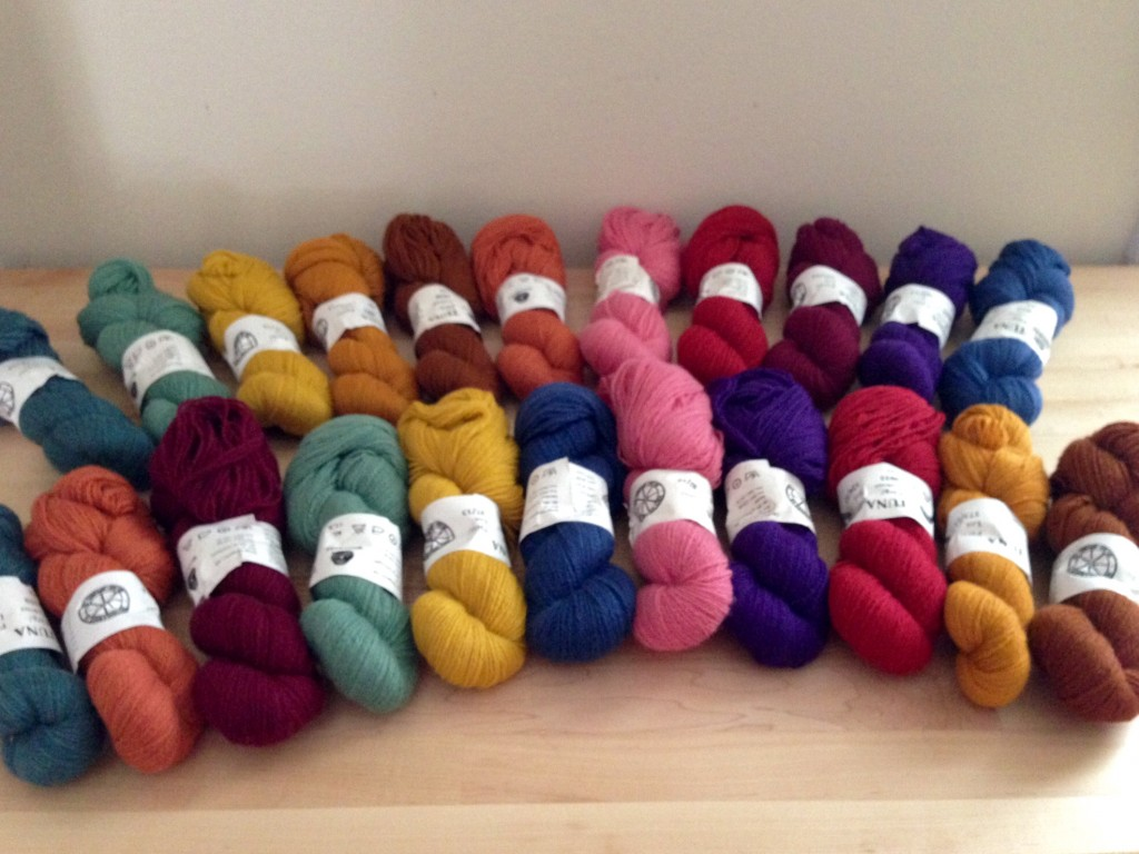 Possible color arrangements for eleven-color wool blanket.