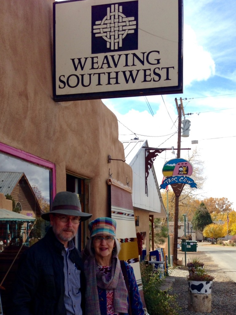 Weaving Southwest in Arroyo Seco, NM. Beautiful tapestries, yarns, and looms inside!