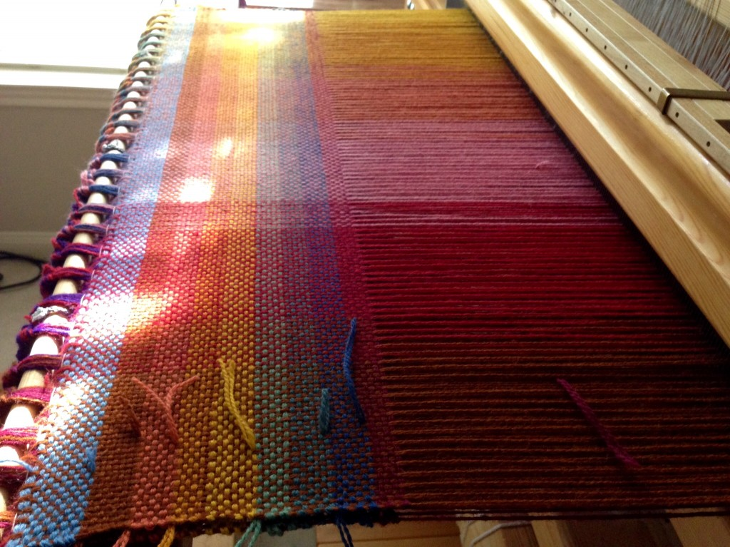 Double weave, finding the right weft.