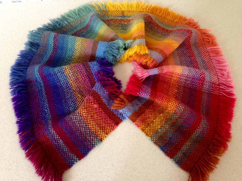 Double width blanket sample after being washed. Karen Isenhower