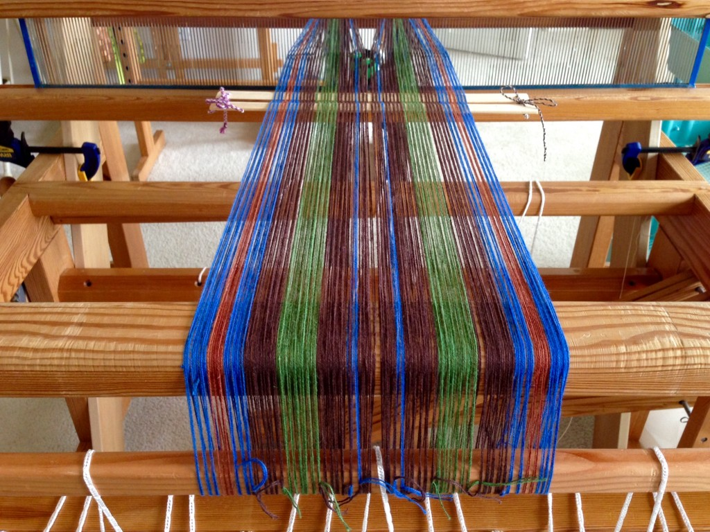 Beaming on a new cottolin warp.