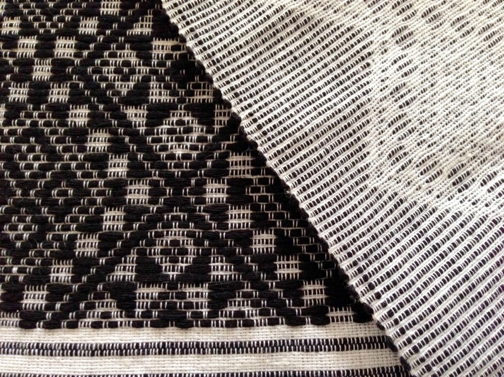 Detail of weft pattern floats in traditional Filipino weave.