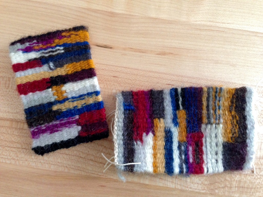 Mini tapestry samplers.