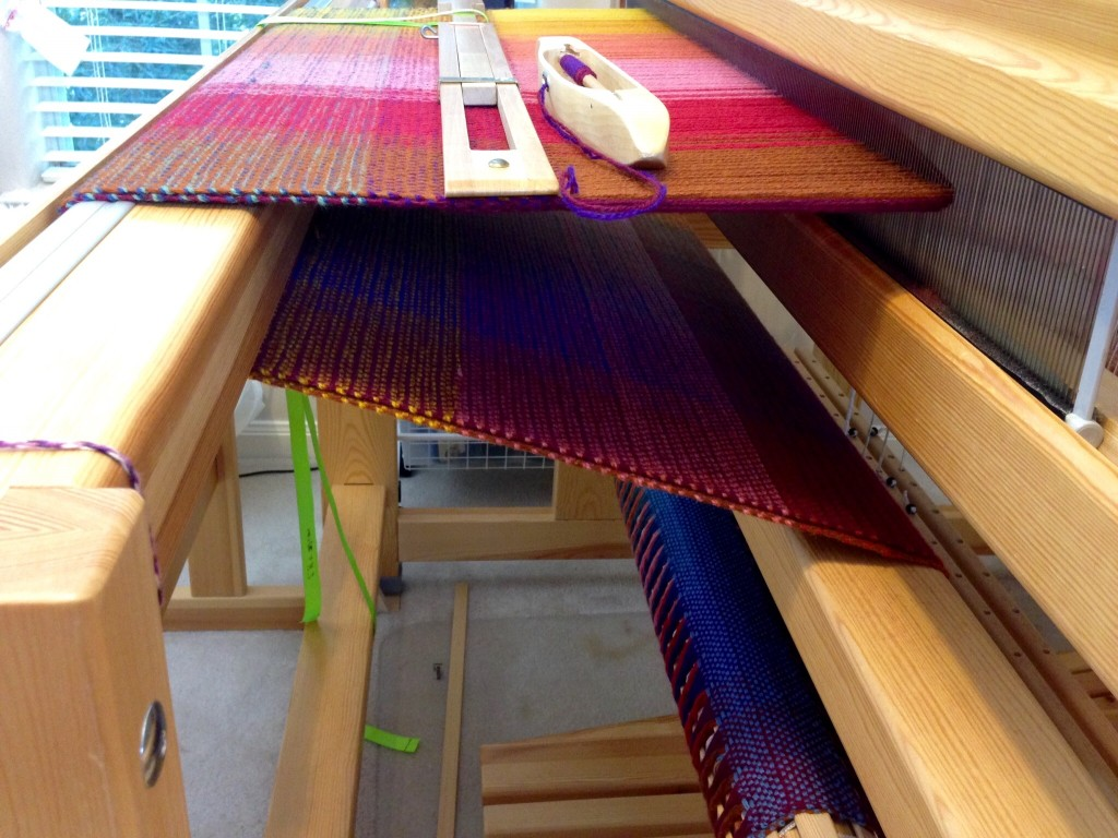 Double-width blanket no.2 on the loom.