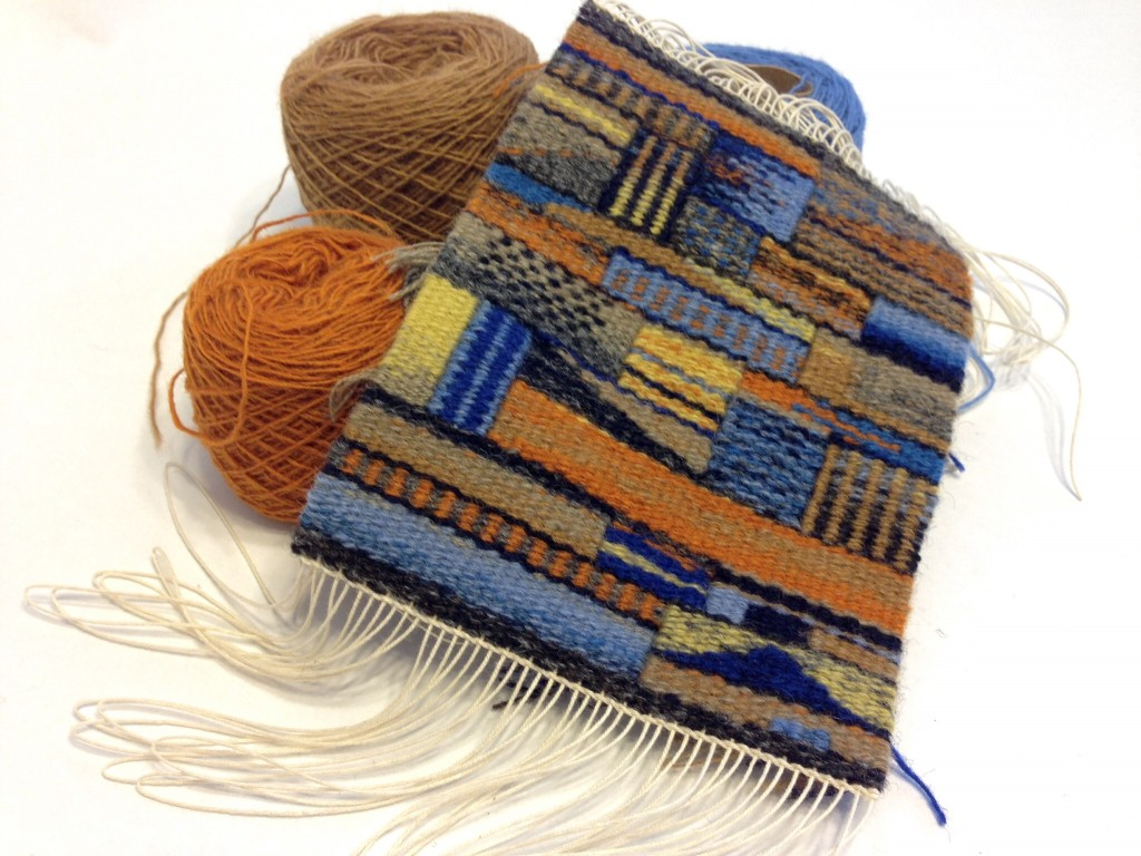 January tapestry diary off the loom. Karen Isenhower