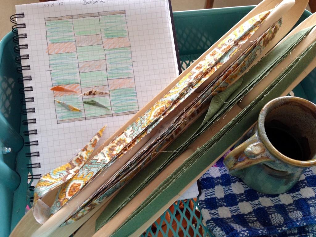 Design graph for weaving a patterned rag rug.