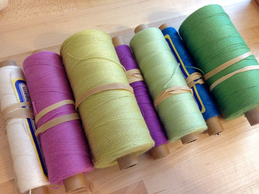Color combination for a cotton scarf.