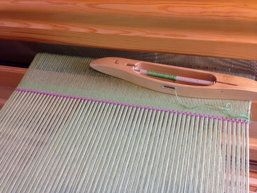 Hemstitching as embroidery.  How-to with pics.