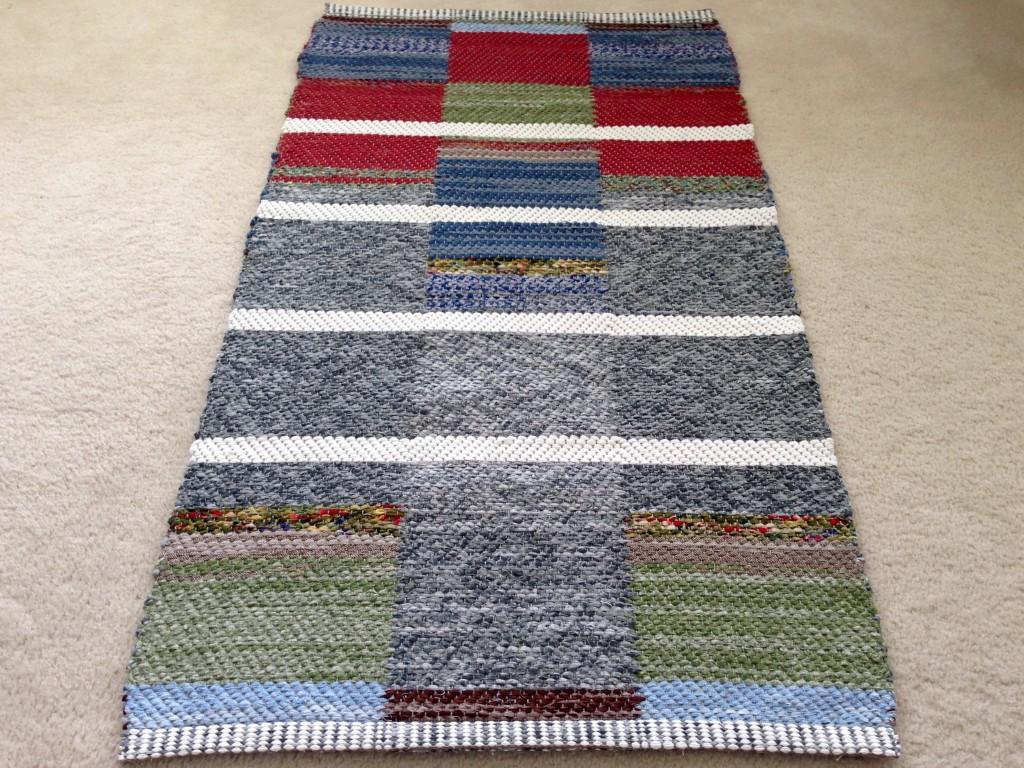 Double binding twill rag rug.