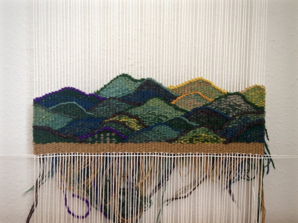 Daily tapestry practice. Tapestry and tea to close the day.