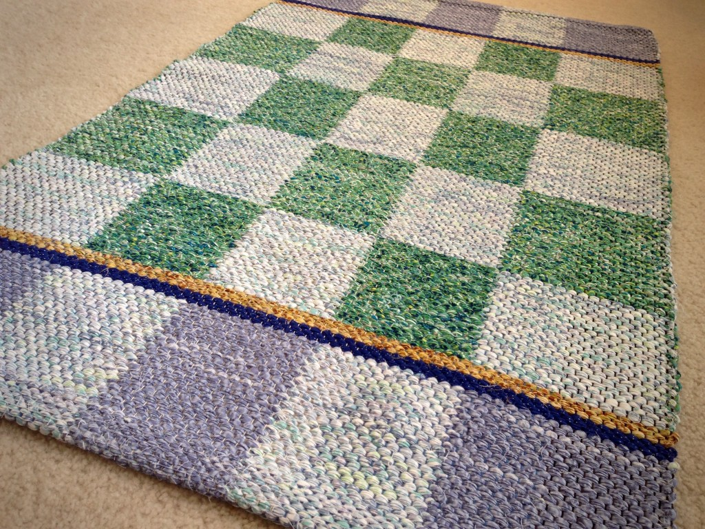 Checkered rag rug. Karen Isenhower