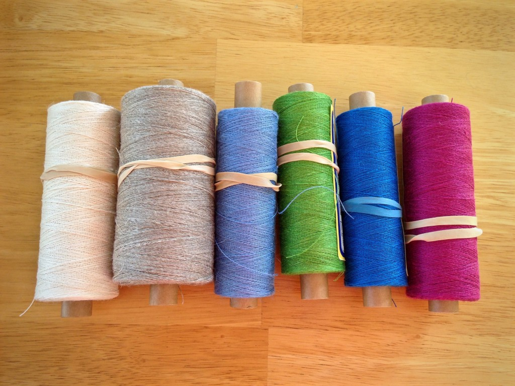 16/1 linen in six colors.