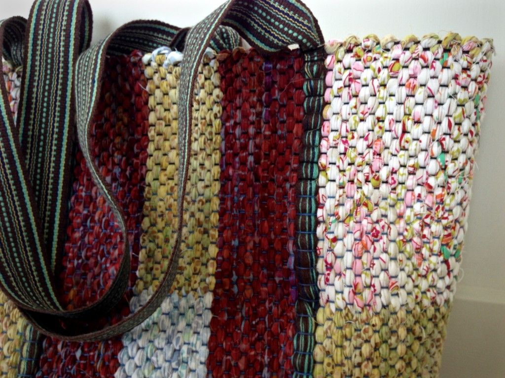 Rag rug bag detail. Karen Isenhower