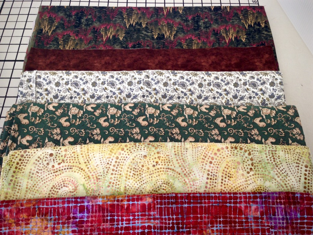 How to select fabrics for weaving rag rugs.