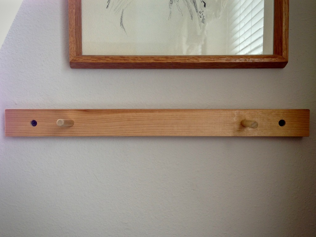 Super simple tapestry frame holder.