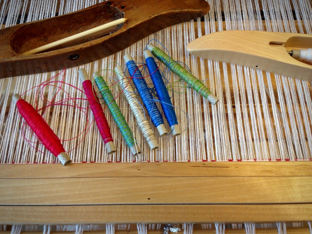 Linen quills ready for sampling.