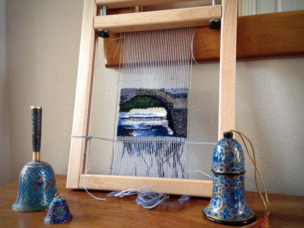 Bridge under construction... Small tapestry.