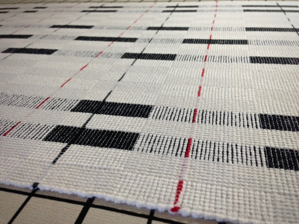 Wet finishing and pressing of new handwoven cottolin towels. Karen Isenhower