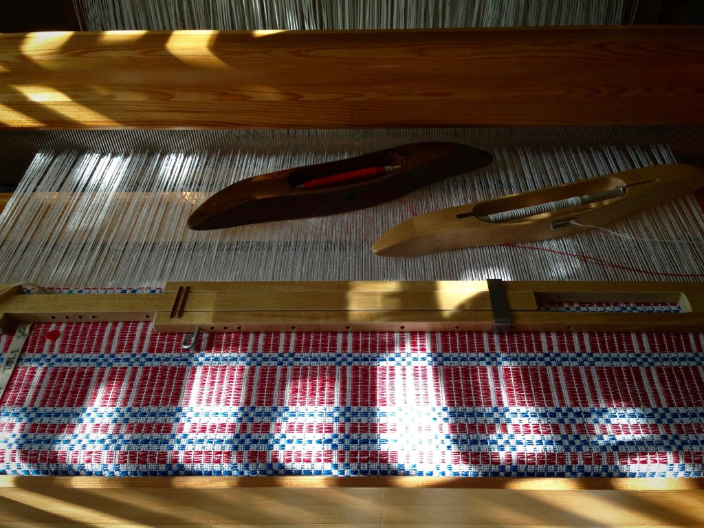Weaving in the afternoon sunlight.