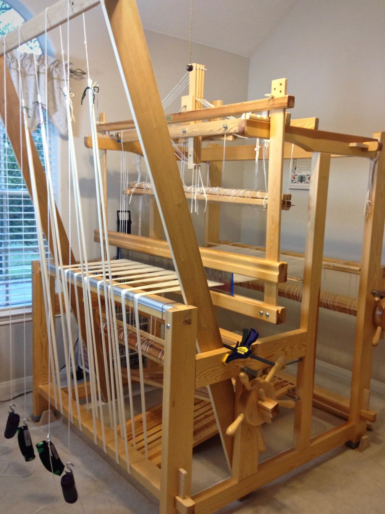 Warping trapeze in use for warping Glimakra Standard.
