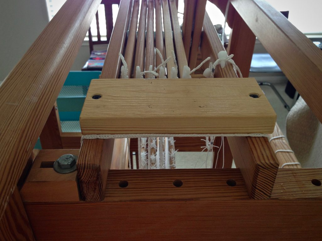 Mounting on Glimakra Ideal loom for a loom lamp.