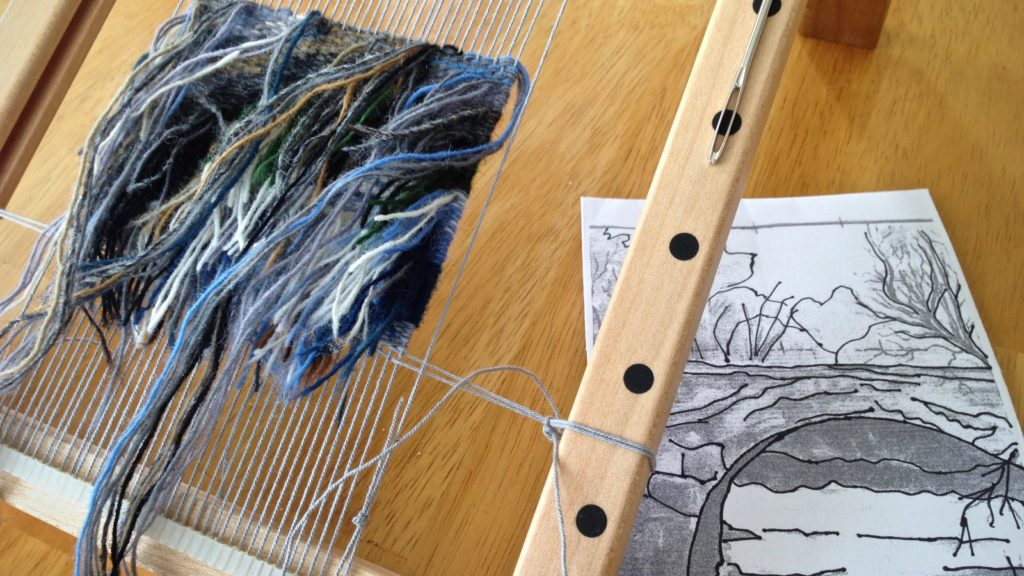 Small tapestry - weaving from the back.