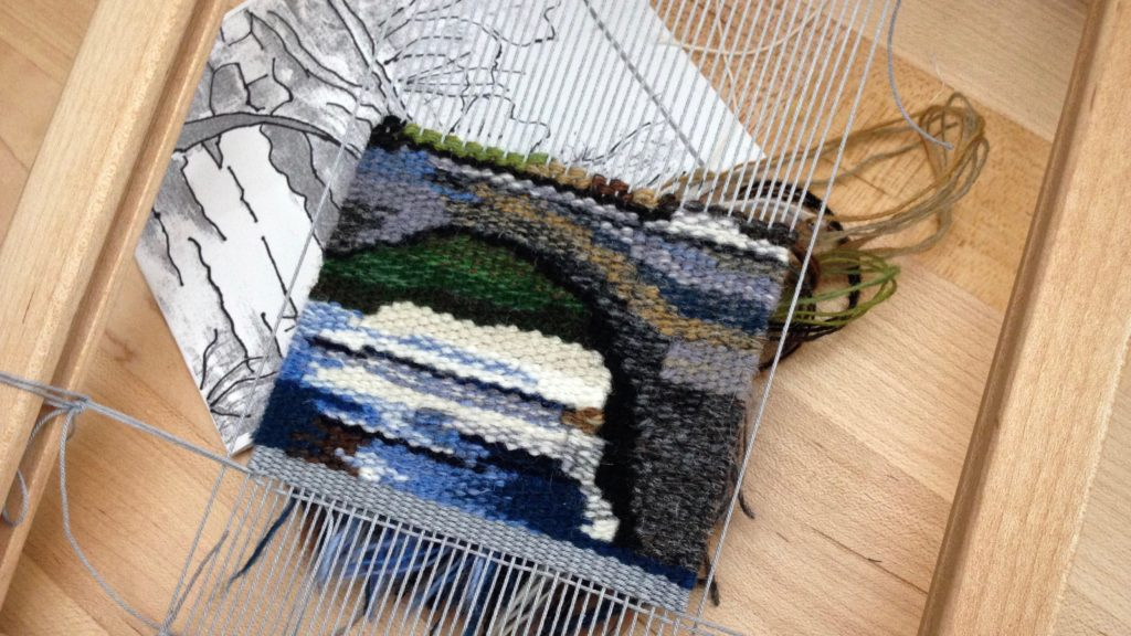 Progress on small tapestry Bridge scene.