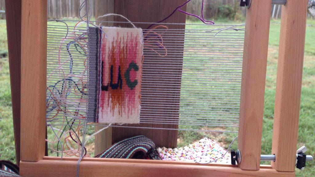 Spelling granddaughter's name. Lucia Tapestry.