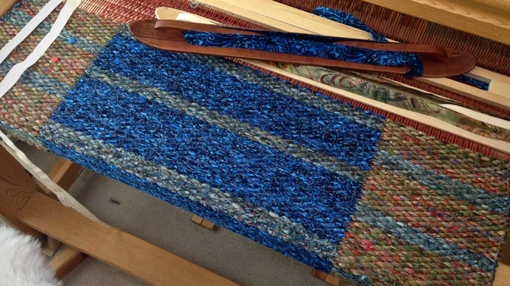 Double binding rag rug on the Glimakra Standard. Karen Isenhower