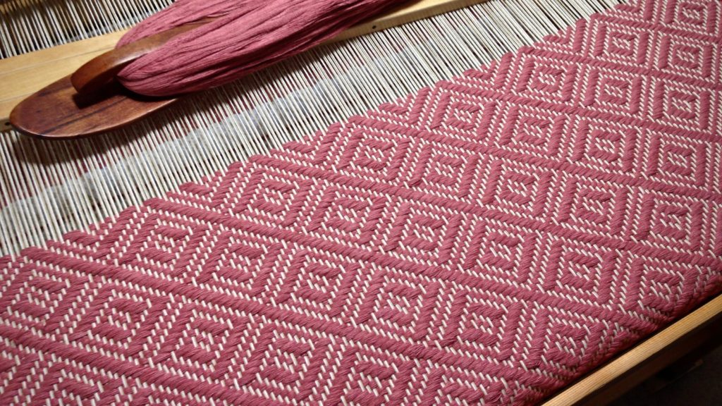Eight-shaft twill woven bath mat. Karen Isenhower