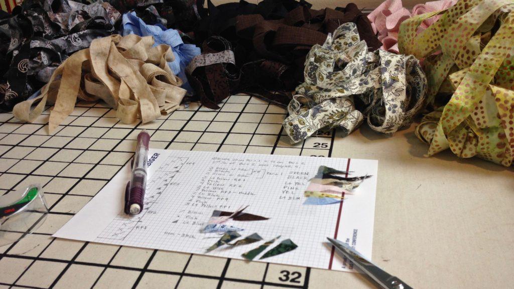 Planning a rosepath rag rug.