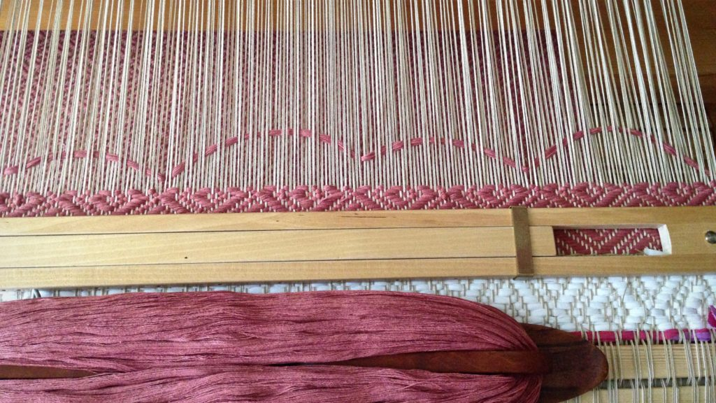 Eight-Shaft Block Twill Rugs with String yarn Weft