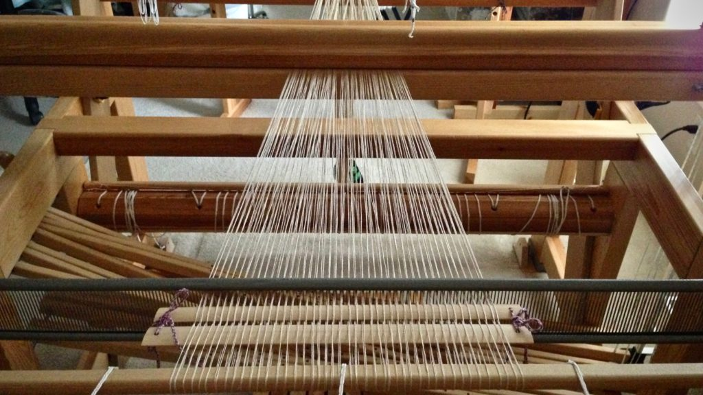 Dressing Glimakra Standard loom.