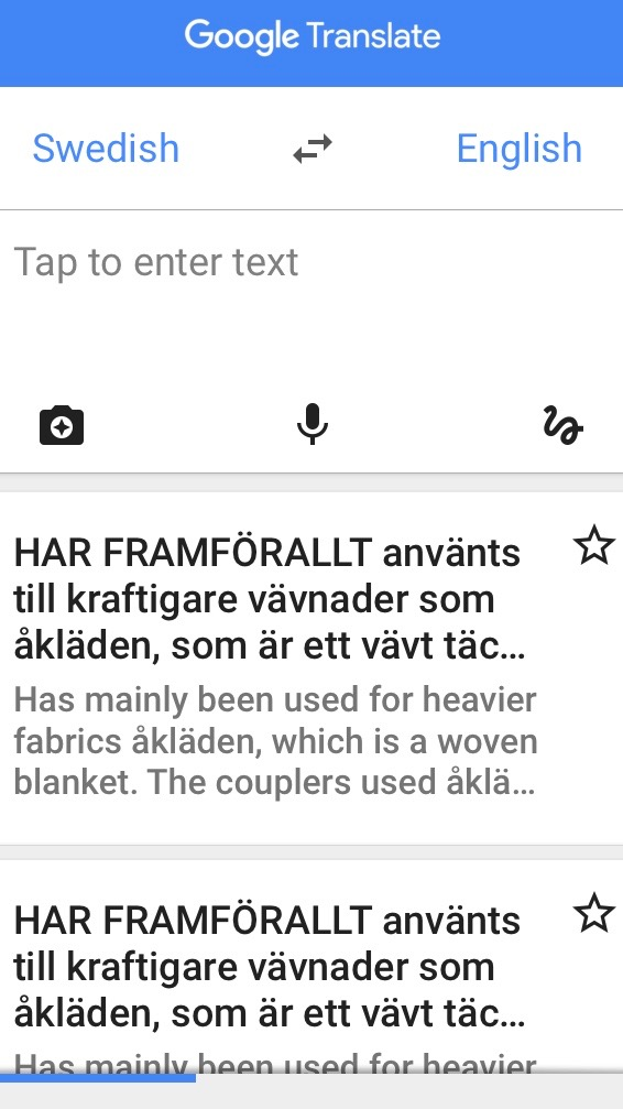 Using Google Translate to read Swedish weaving books.