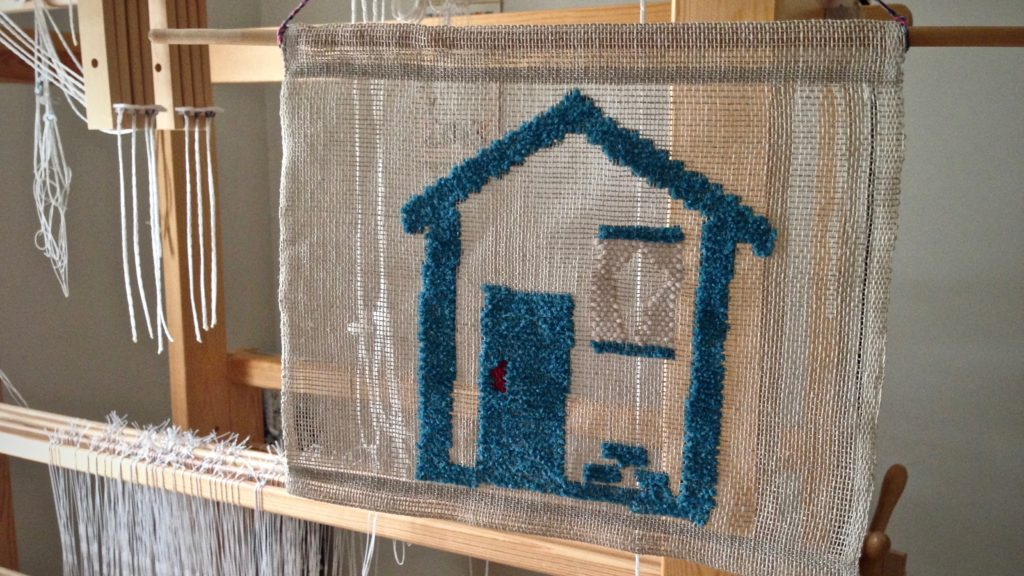 Welcome home! Transparency weaving. Karen Isenhower