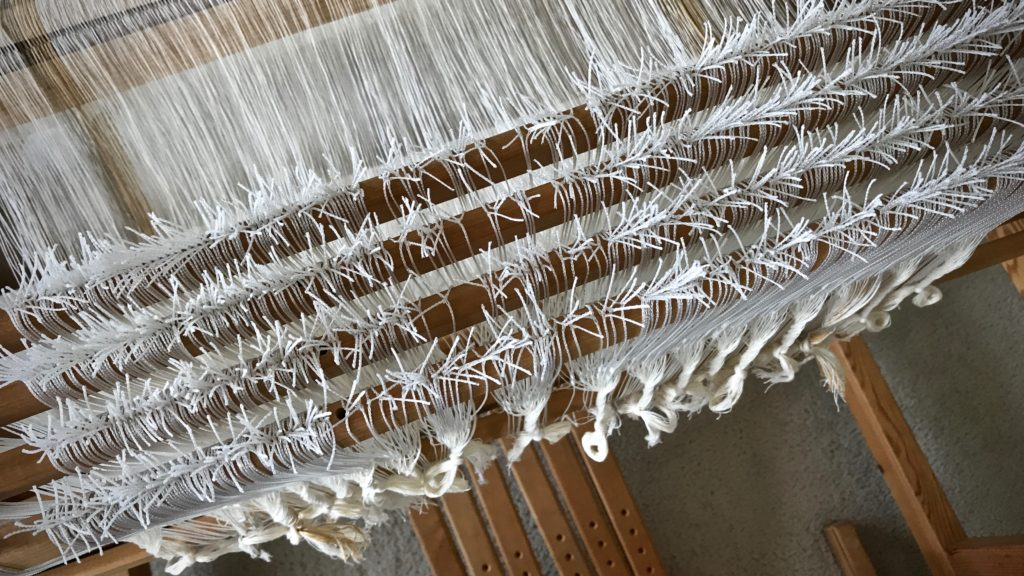 Texsolv heddles of four shafts. Glimåkra Ideal.