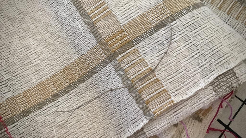 Weaving tip: How I number the towels on a warp.