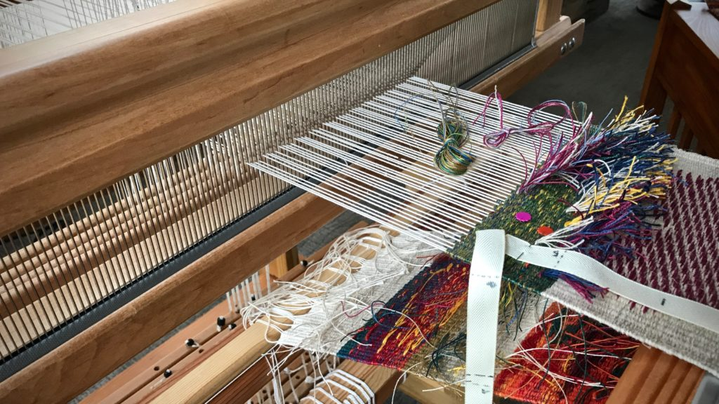 Rya knots and inlay. All linen.